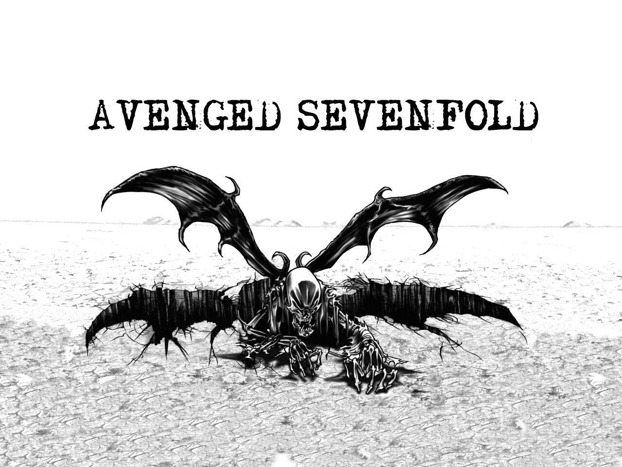 Av av avenged sevenfold tattoo designs - A7x Gotta Love The Sketches On White