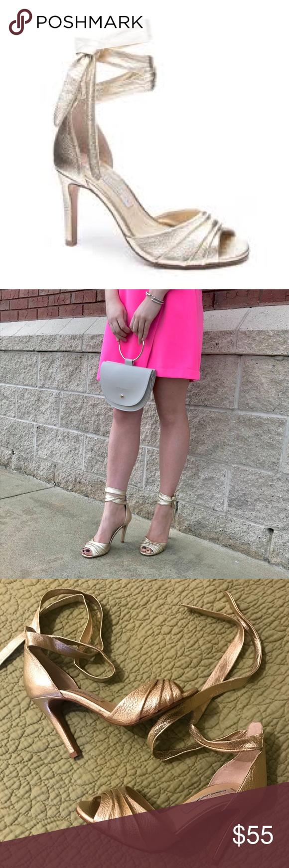 eac209ee0 Chinese Laundry Kristin Cavallari Lilac Pumps 5.5 Peep toe - Textured vamp  - Wraparound ankle straps - Slip-on - Lightly padded footbed - Stiletto  heel ...