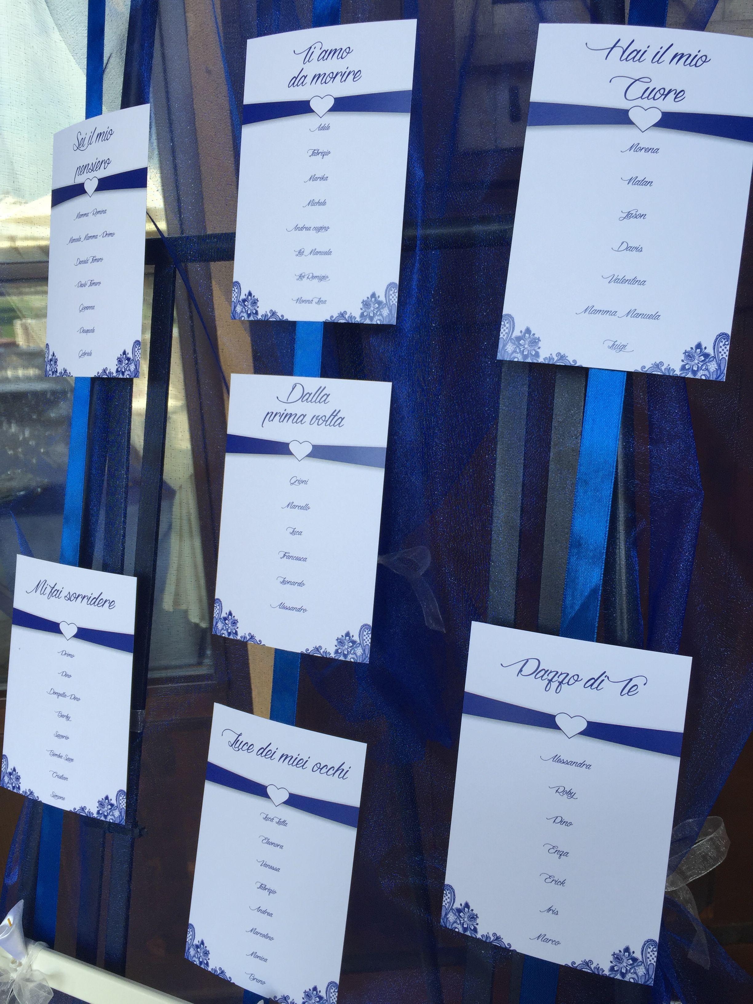 Tableau De Mariage Blu Amore Matrimonio Nozze Tableau Invitati Matrimonio Mariage Matrimonio Blu