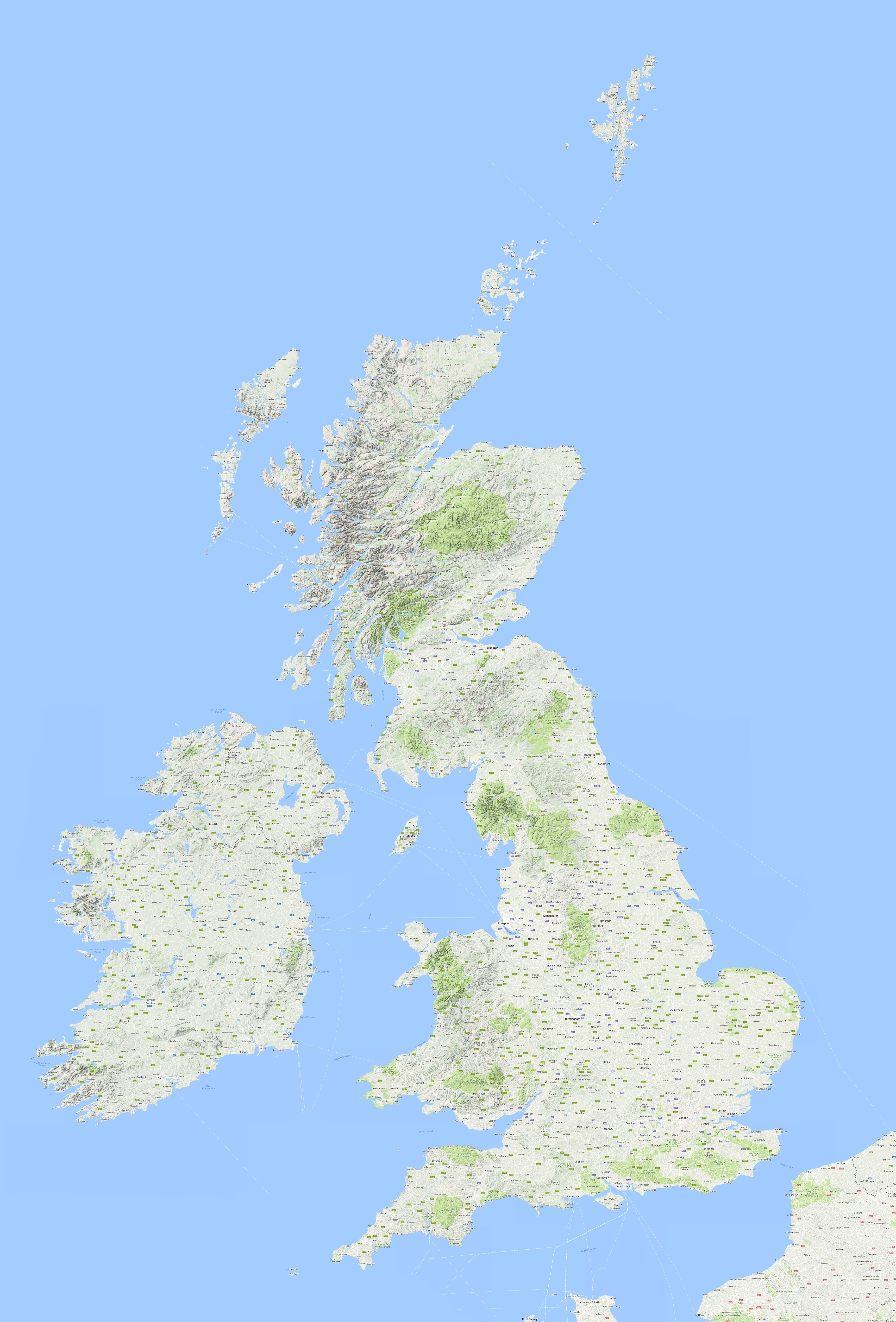 A Mega Map Of The United Kingdom And Ireland Made By Stitching