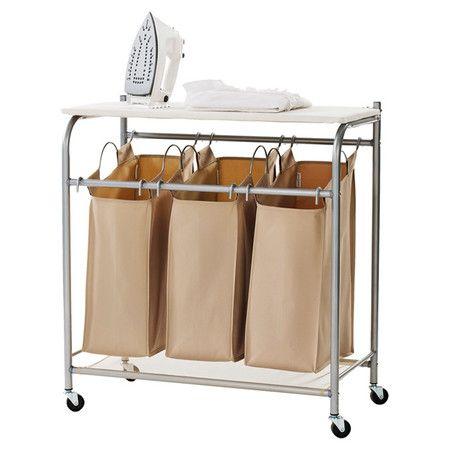 Triple Laundry Sorter Ironing Board Laundry Sorter Laundry