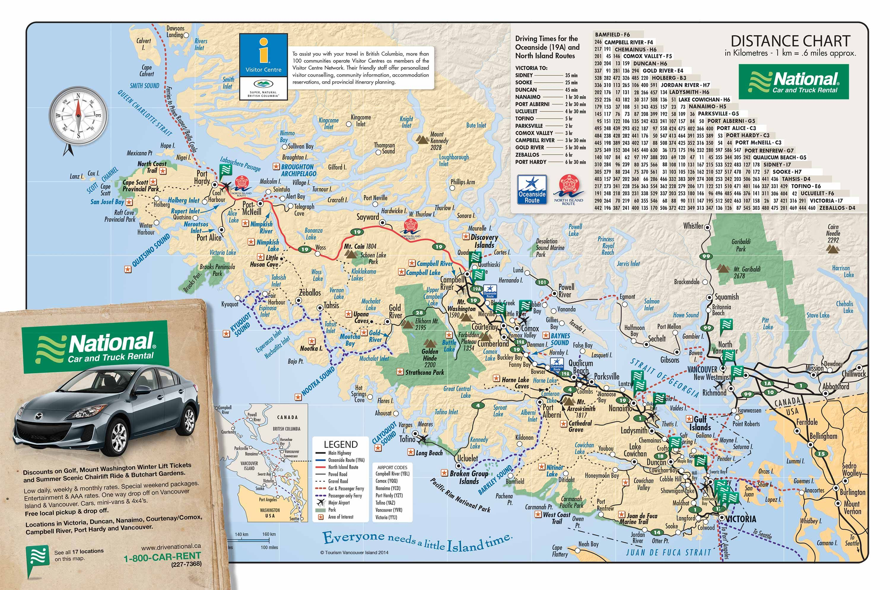 Map Of Vancouver Island Backpacking Moon Pinterest Vancouver