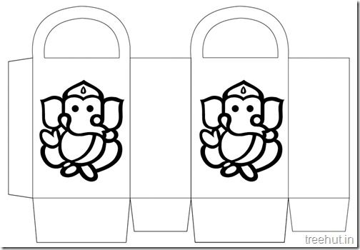 Diwali Gift Basket Bag DIY Craft for kids Printable Template (2 ...