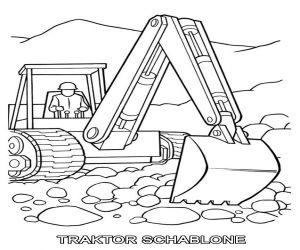 Traktor Schablone Laterne