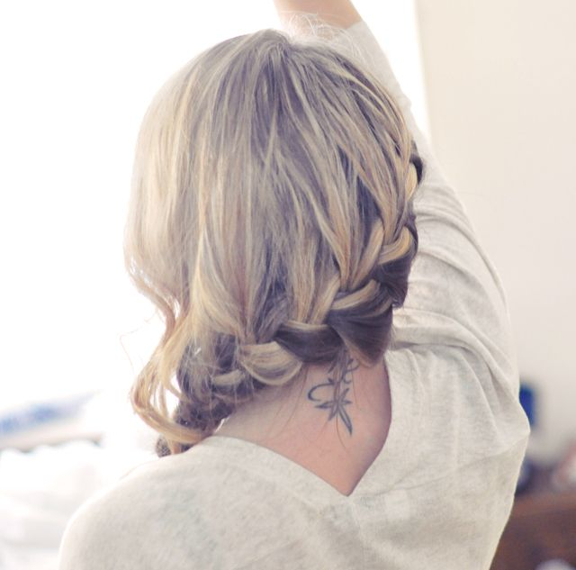 Tutorial for side French Braid/ Low Up-do