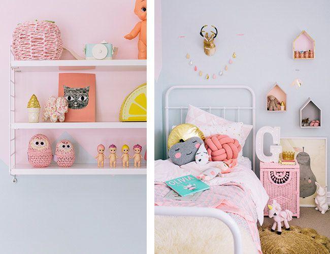 ambiance pastel maison pastel et myrtilles - Chambre Vintage Petite Fille