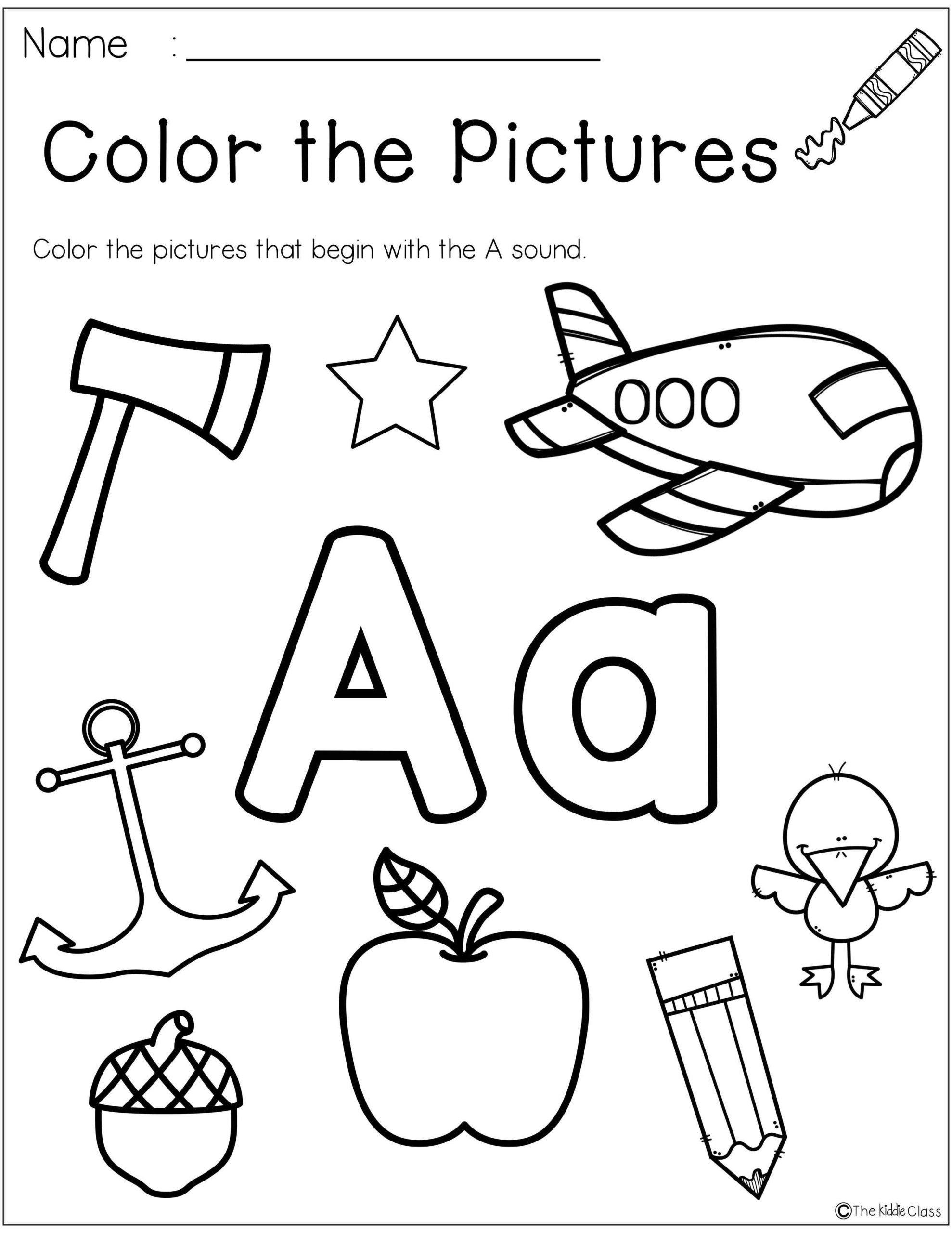 Word Problems Worksheets For Kindergarten Letter