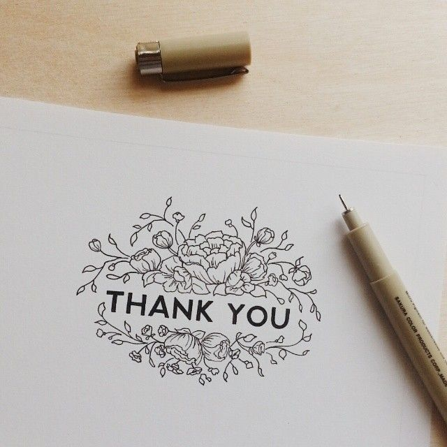 Kelsey Phillips I Was Working On A Thank You Card Design And