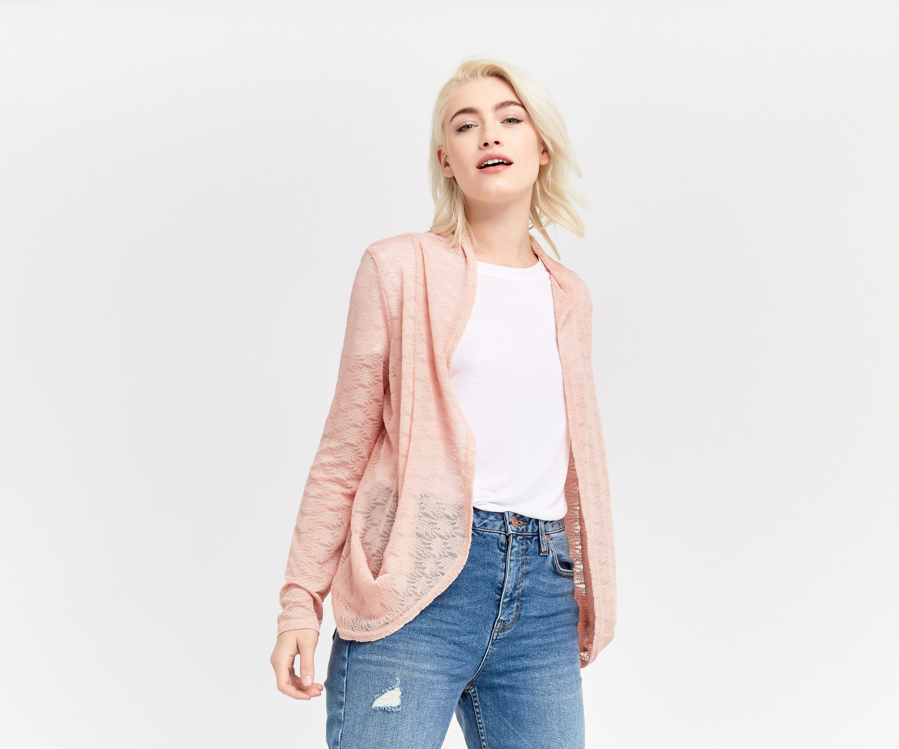 Oasis, Lace drape cardigan Pale Pink | Pay Day | Pinterest | Pale ...