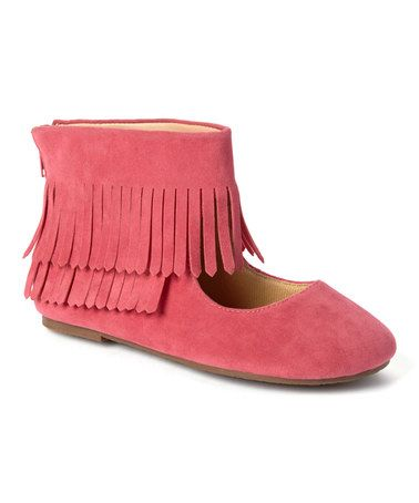 Loving this Pink Pom Ankle Wrap Flat on #zulily! #zulilyfinds