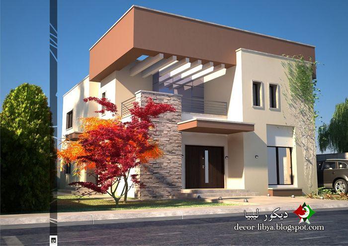 تصاميم منازل فيلات حديثه مودرن تشكيلات روعه Designs Houses Villas Modern تصاميم منازل فيلات حديثه مودرن تش House Styles House Design House