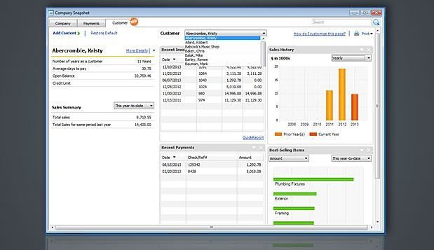 Many small businesses use QuickBooks on top of Excel to enter sales - sales spreadsheet