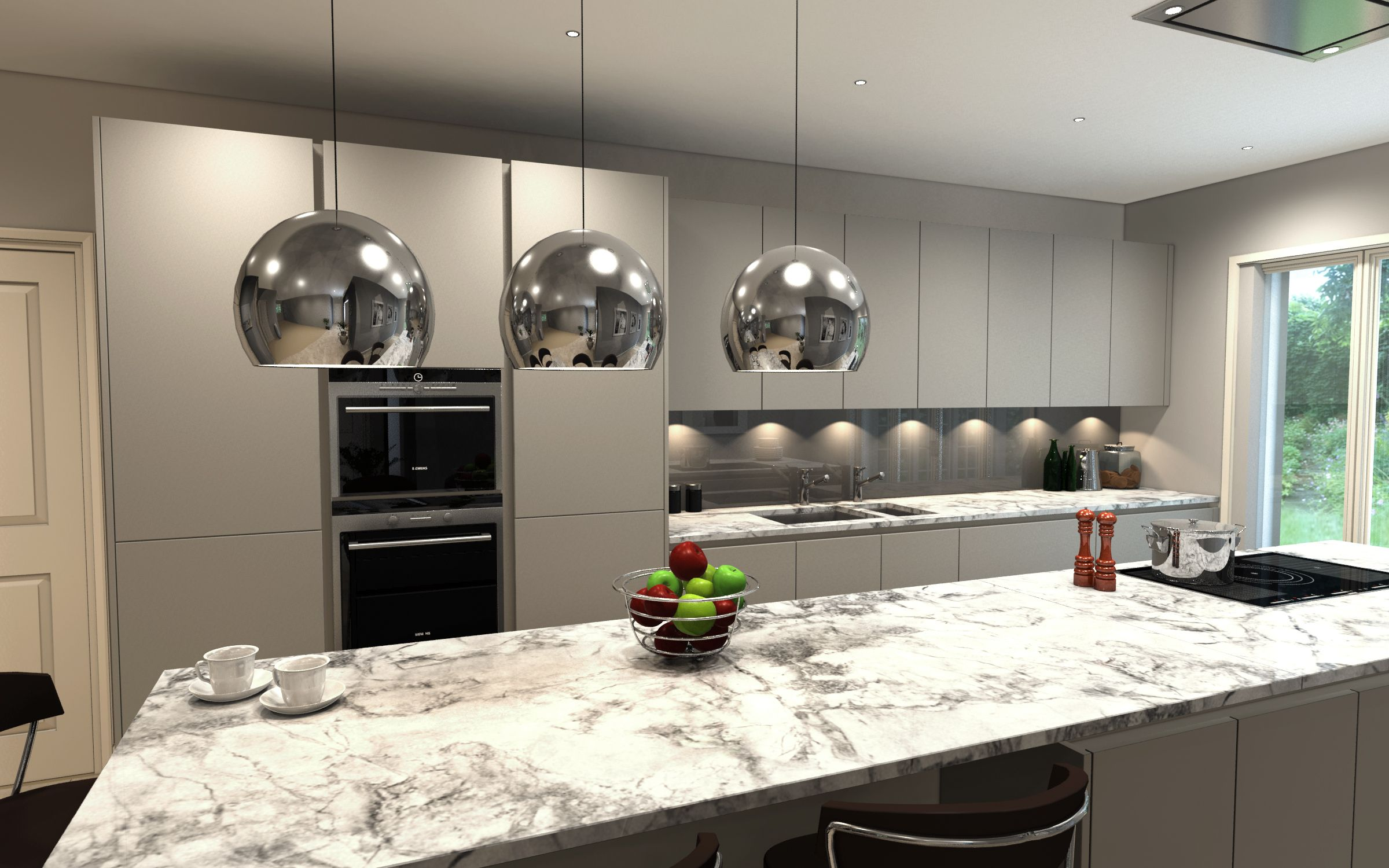 Best Handless Pebble Grey Kitchen Orcadesignltd Com Ideeën 400 x 300