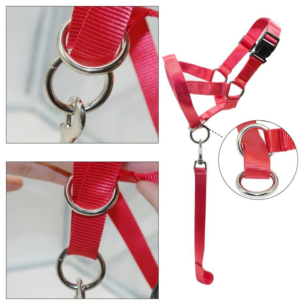 Afco Dog Head Collar Halter,Soft Nylon Training Mouth Cage Anti Bite Chew Safety Mask for Pet Dog
