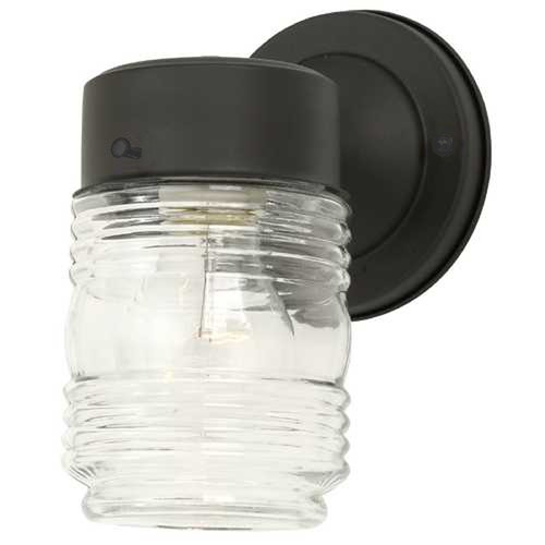 Jelly Jar Outdoor Wall Light Clear Glass Black Finish At Destination Lighting Outdoor Wall Lighting Wall Lights Jelly Jars