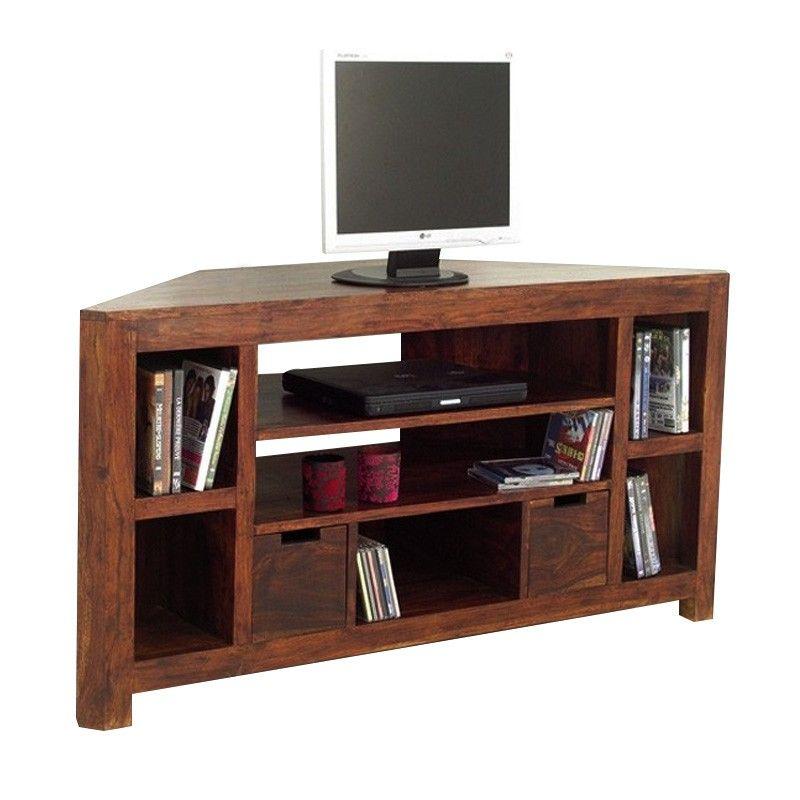 magnifique meuble tv d angle bois Idees meuble tv