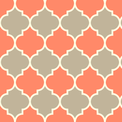 Moorish - coral & dove fabric by kayajoy for sale on Spoonflower...changing pad cover