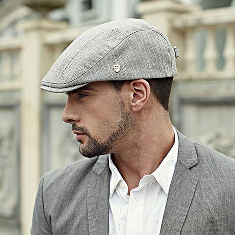 Gentleman flat cap stripe design mens hats for spring More 66a9842d27c