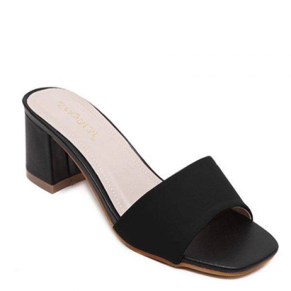 29.27$  Watch now - http://di51m.justgood.pw/go.php?t=181117506 - Stylish Chunky Heel and Solid Colour Design Women's Slippers 29.27$