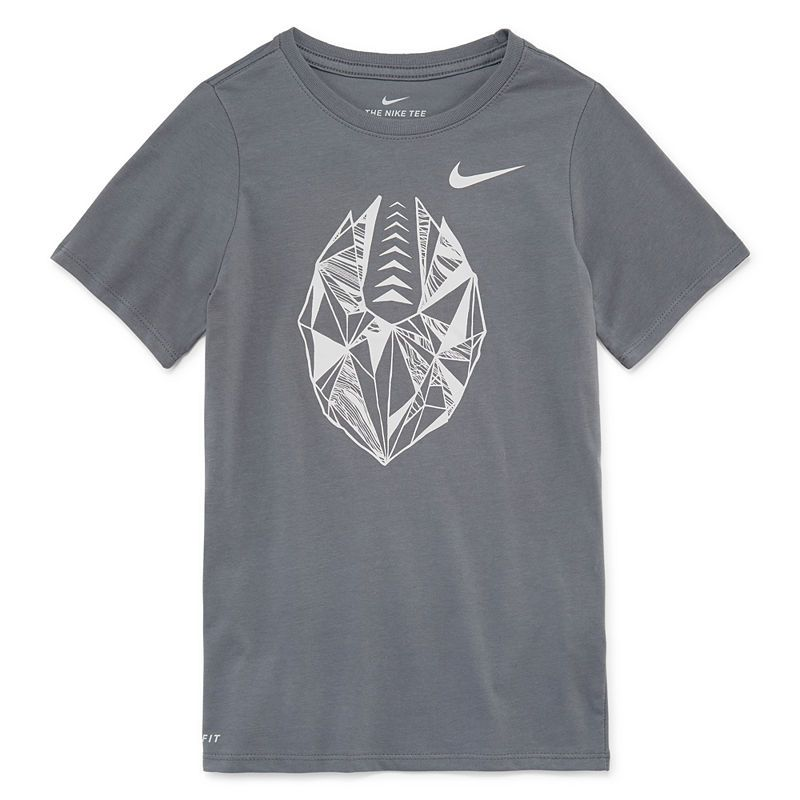 abc69694 Nike Boys Crew Neck Short Sleeve Dri-Fit Graphic T-Shirt-Big Kid ...