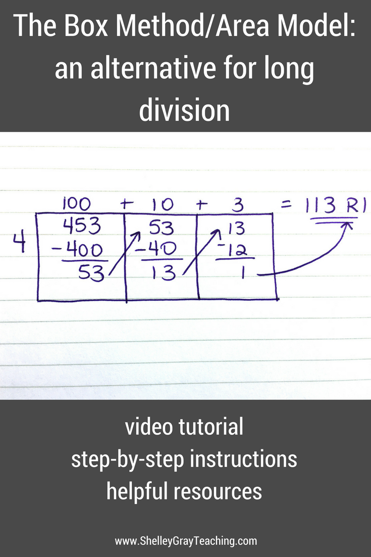 The Grid Method For Long Division Division Pinterest Long