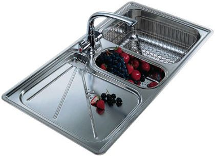 franke arianne arx 654 15 bowl stainless steel kitchen sink - Frank Kitchen Sink