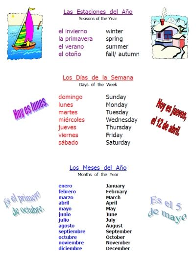 FREE Spanish time & weather worksheet packet -- 25 pages ...