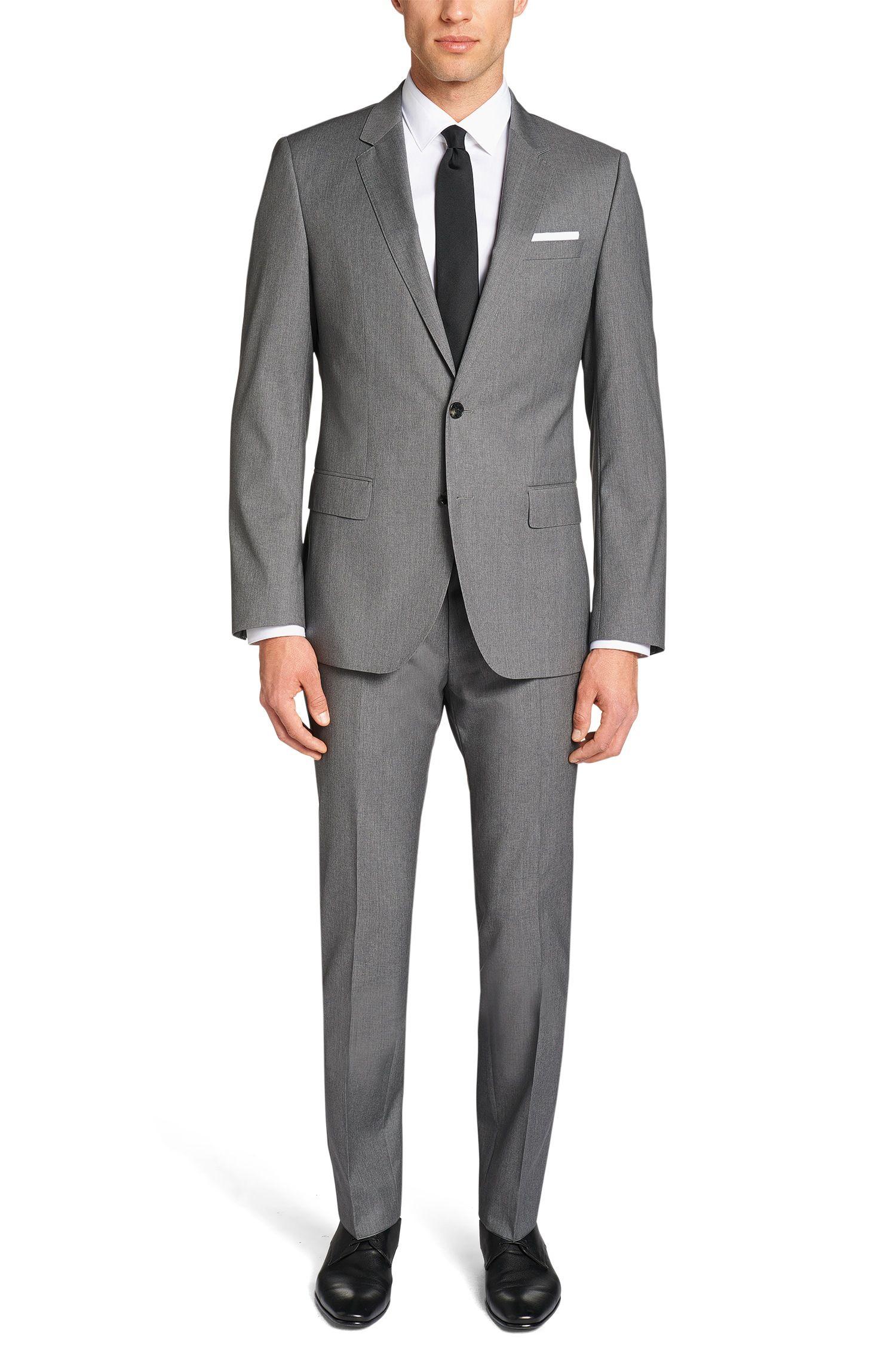 cc693e52333c6 Fein melierter Slim-Fit Anzug aus Schurwolle   Huge4 Genius3