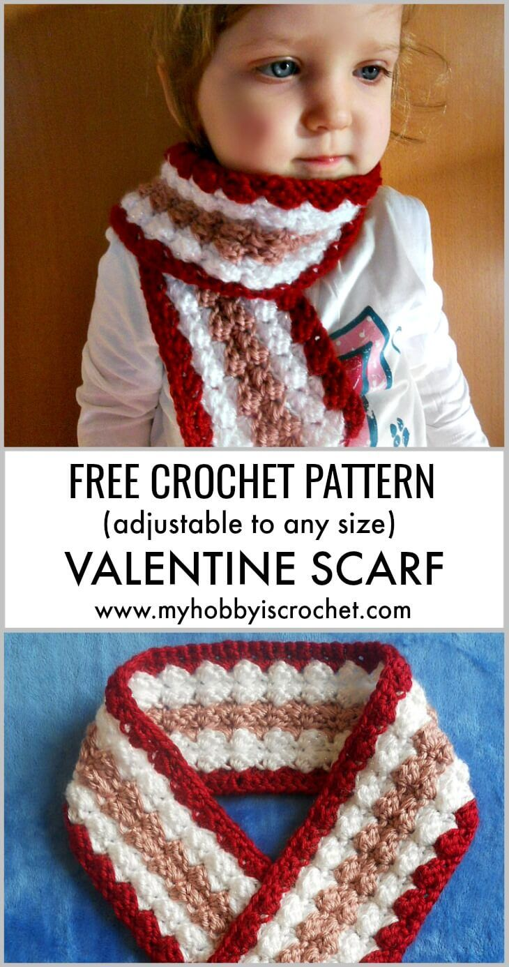 Valentine Scarf Free Crochet Pattern Crochet Pinterest