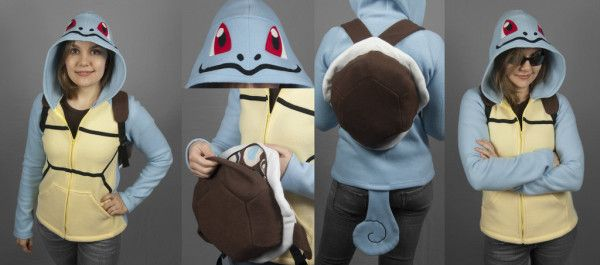 We Totally Want Want Of These Squirtle or Bulbasaur Hoodies