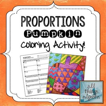 Proportions with word problems coloring activity word problems proportions with word problems pumpkin coloring activity fandeluxe Images