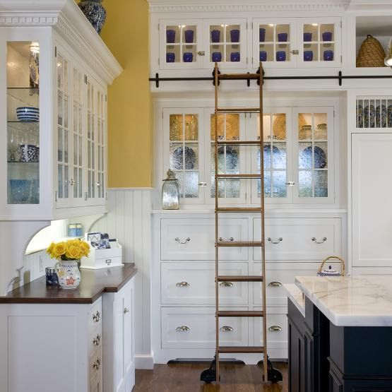 Wode Mode Library Ladder Design By Kitchens By Gedney New