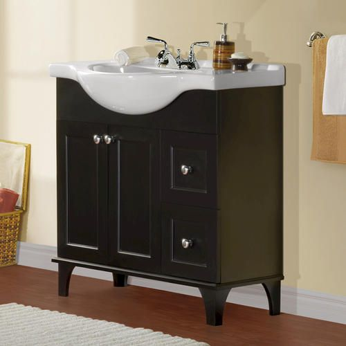 "Bathroom Sinks At Menards 34"" fairmont collection euro vanity base at menards 