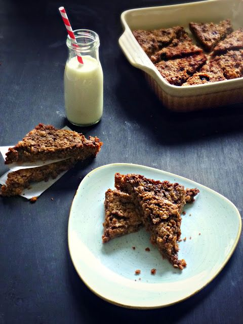 The Spoon and Whisk: Chocolate Fruit n' Nut Flapjacks