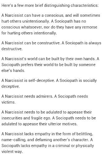Is narcissist a between sociopath difference What the and