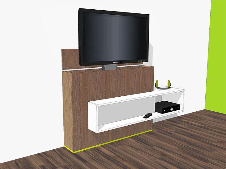 werktekening bouwtekening tv meubel met lift astor tv