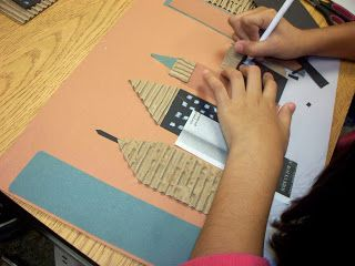 Creating Art: Cityscape Collages-5th grade | 5th grade art