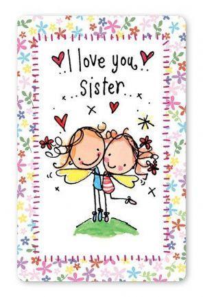 I Love You Sister Te Quiero Mucho Hermana Cumpleanos Chistoso Tarjetas Bonitas
