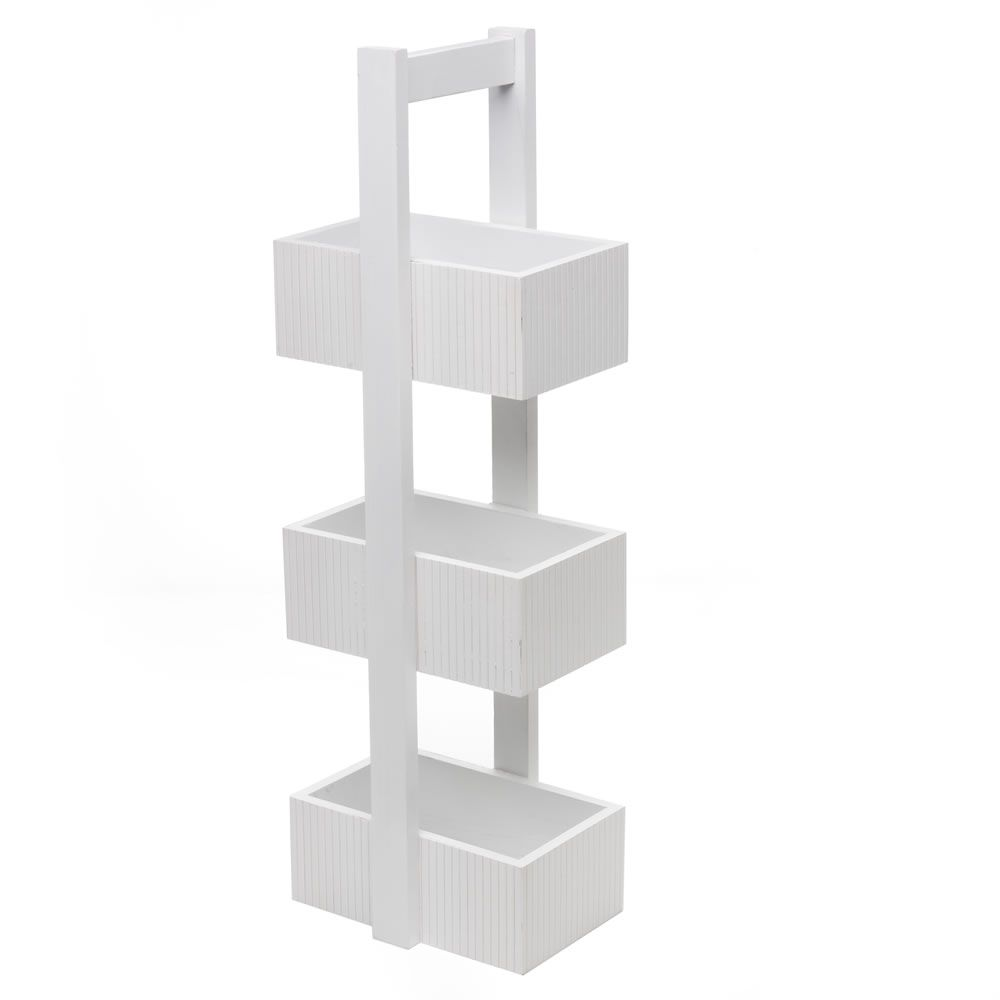Wilko Bathroom Cabinet Wilko Storage 3 Tier Wood White Free Standing At Wilkocom Alb15 So