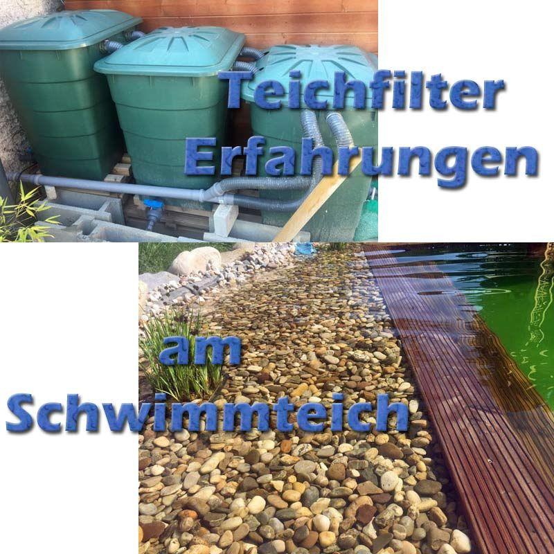 Meine Erfahrungen Mit Dem Teichfilter Aus Regentonnen Am Schwimmteich Nbsp Wir Haben Uns Nach Intensiver Suche Und Recherche Teichfilter Schwimmteich Teich