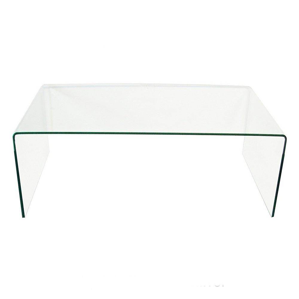 Fab Glass And Mirror 43 In Clear Large Rectangle Glass Coffee Table Xct312 The Home Depot Coffee Table Mirrored Coffee Tables Rectangle Glass Coffee Table [ 1000 x 1000 Pixel ]