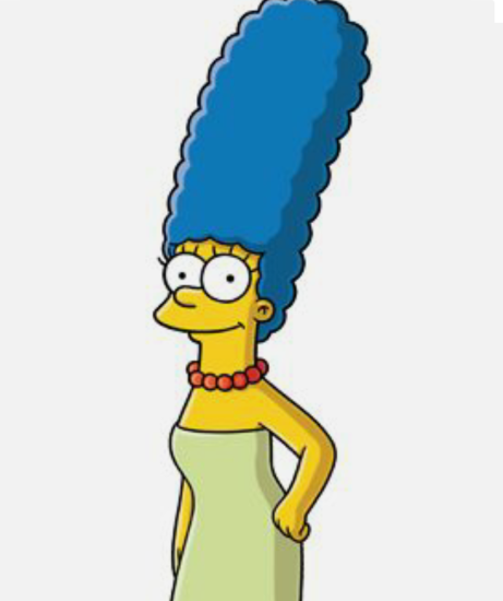 30 Days Of Nerdy Hair Day 4 Marge Simpsons Blue Hair Blog Series Marge Simpson Simpson Marge