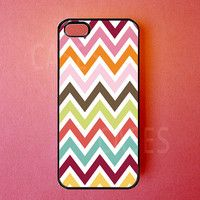 Iphone 5 Case Colorful Chevron Iphone Cover, Cute Designer pattern Iphone Cases