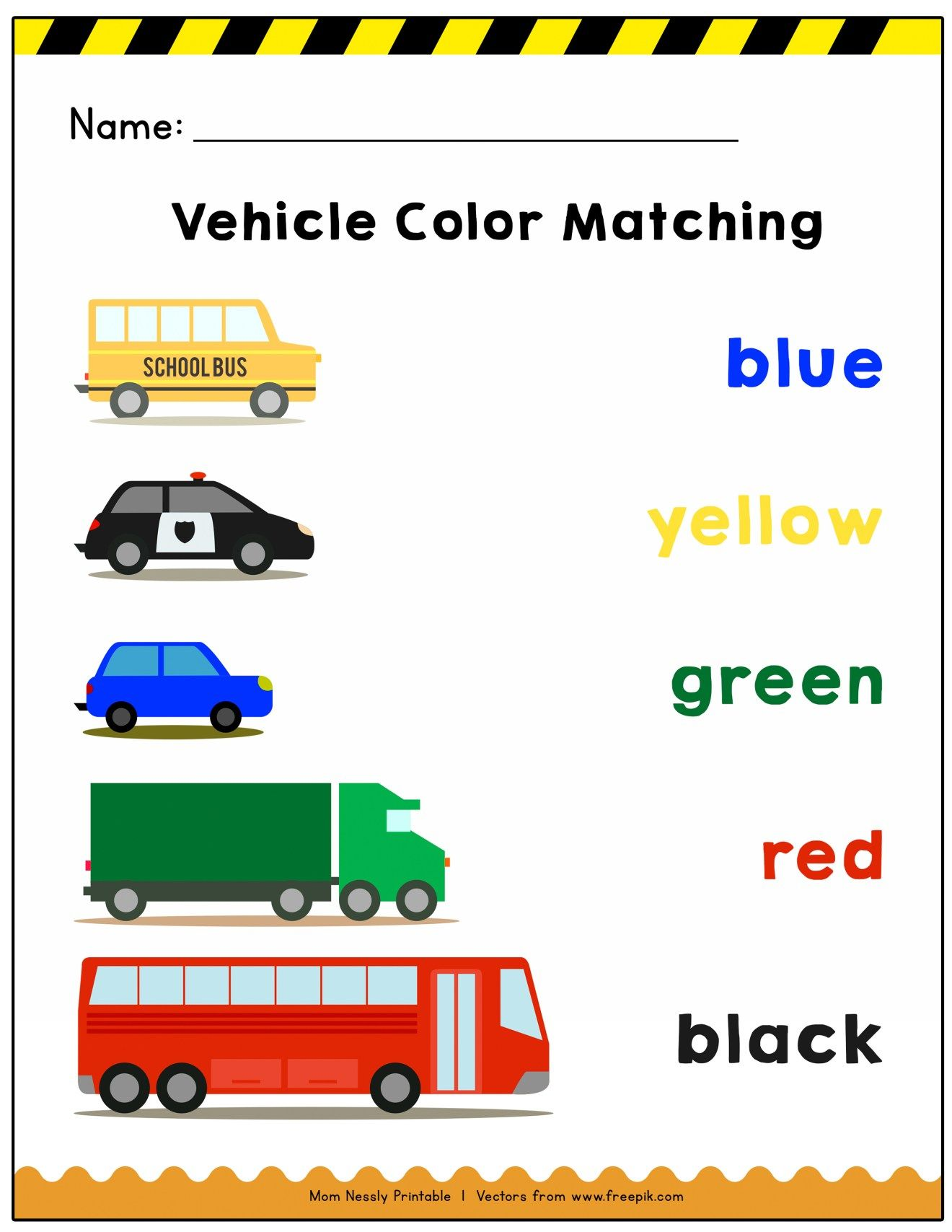 Transportation Themed Coloring Worksheets
