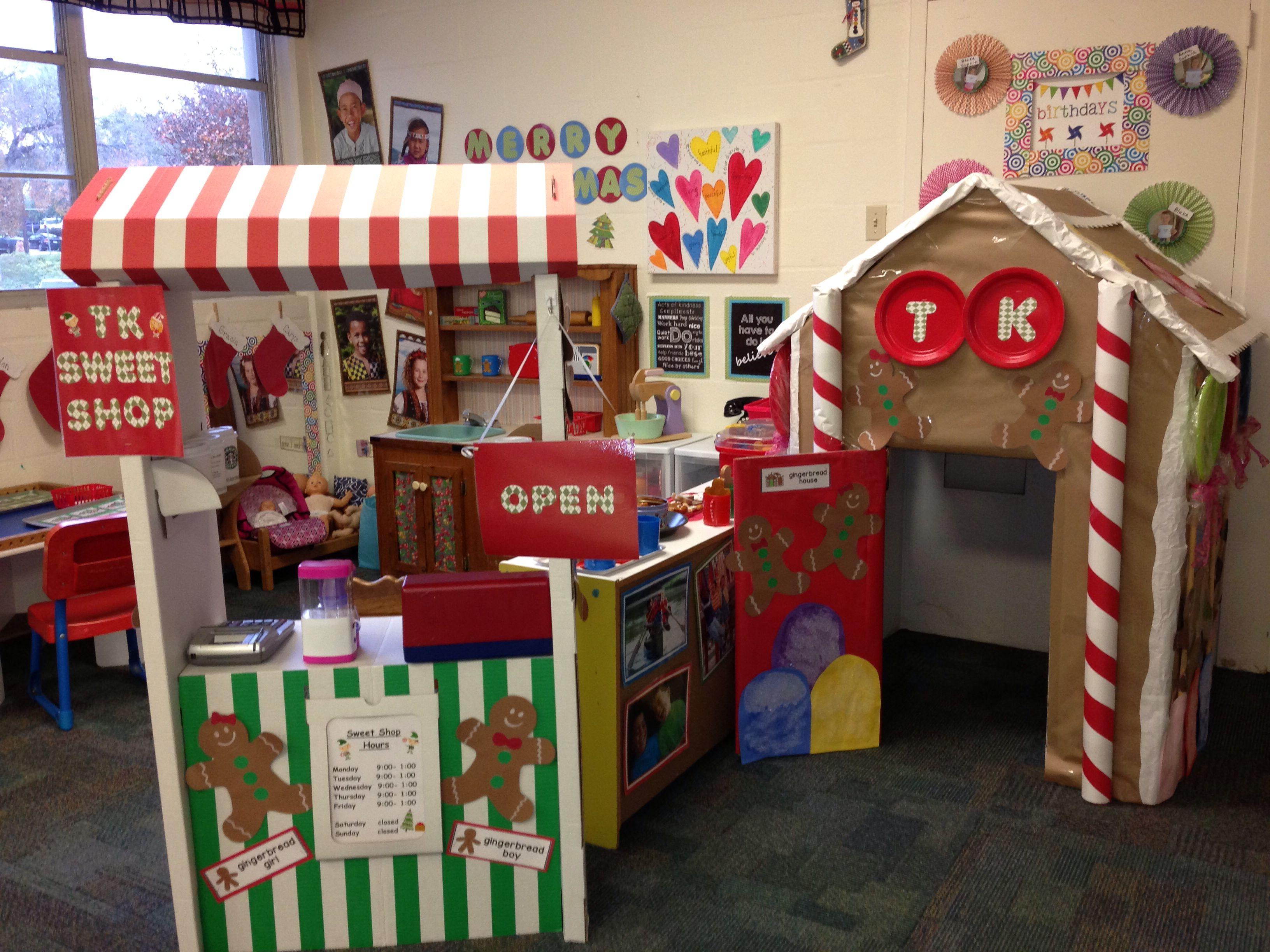 Dramatic Play Gingerbread House Sweet Shop Preschool