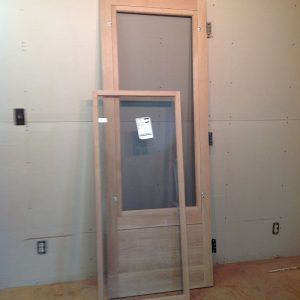 Combination Wood Storm And Wood Screen Door Screen Door Wood Storm Doors