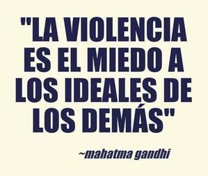 #Violencia #Gandhi