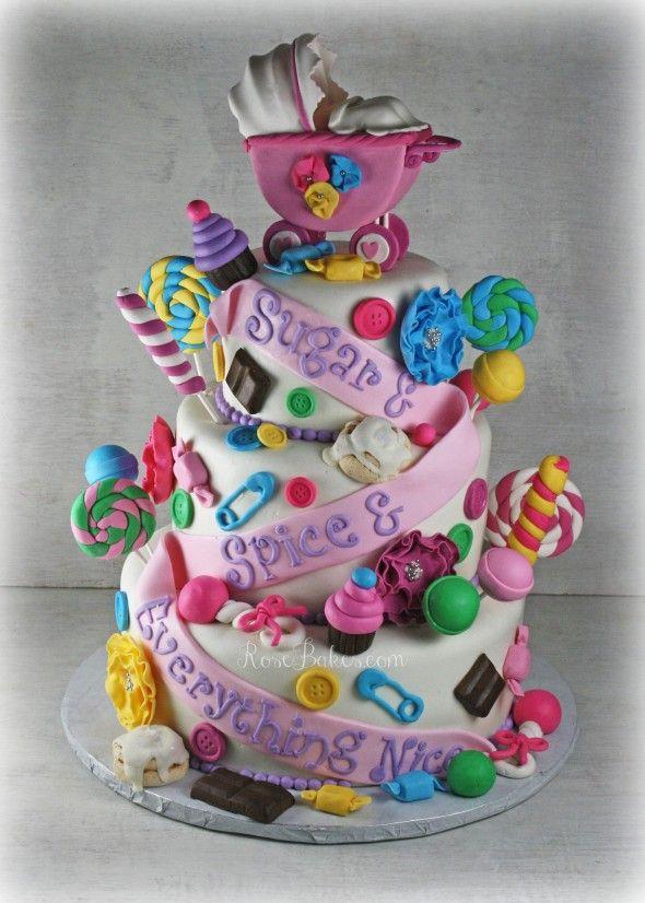 cc016c9088ea Sugar   Spice   Everything Nice Baby Shower Cake