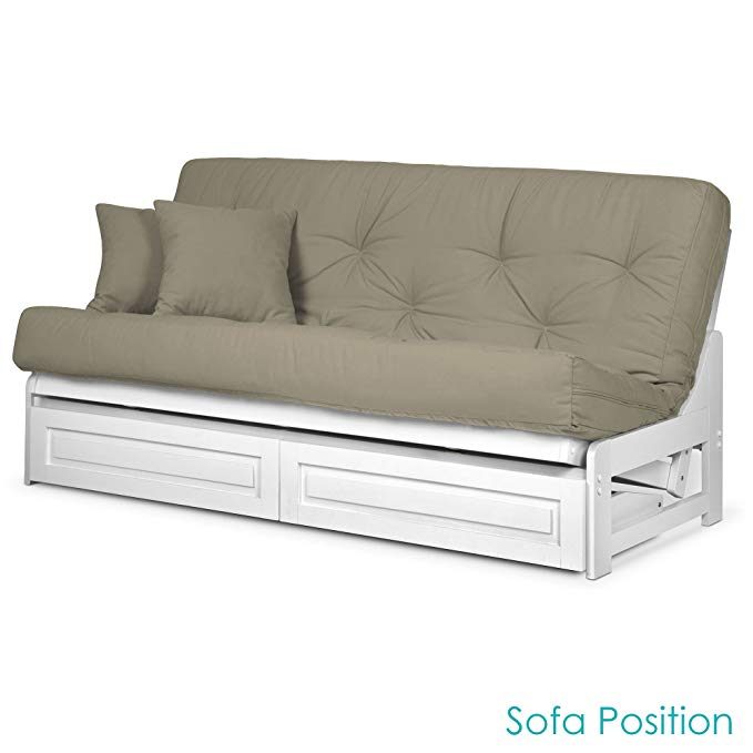 Prime Amazonsmile Arden White Futon Frame With Storage Drawers Alphanode Cool Chair Designs And Ideas Alphanodeonline