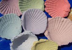 Muschelabformungen aus Papier, einfache Bastelanleitung für Kinder ab 3 Jahren